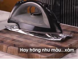 Thử nướng thịt bằng bàn ủi, đầu bếp nhận kết quả bất ngờ