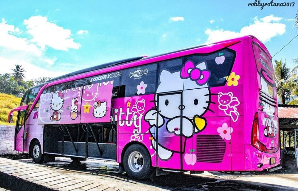 Thực hư việc xuất hiện xe đi Đà Lạt phiên bản HELLO KITTY toàn màu hồng làm tín đồ du lịch đứng ngồi không yên-2