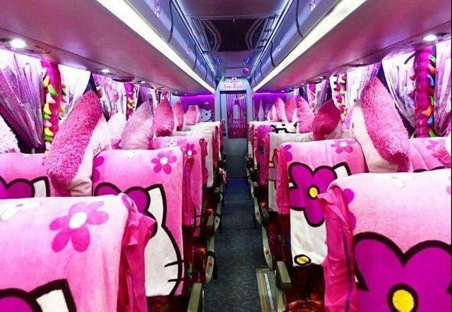 Thực hư việc xuất hiện xe đi Đà Lạt phiên bản HELLO KITTY toàn màu hồng làm tín đồ du lịch đứng ngồi không yên-4