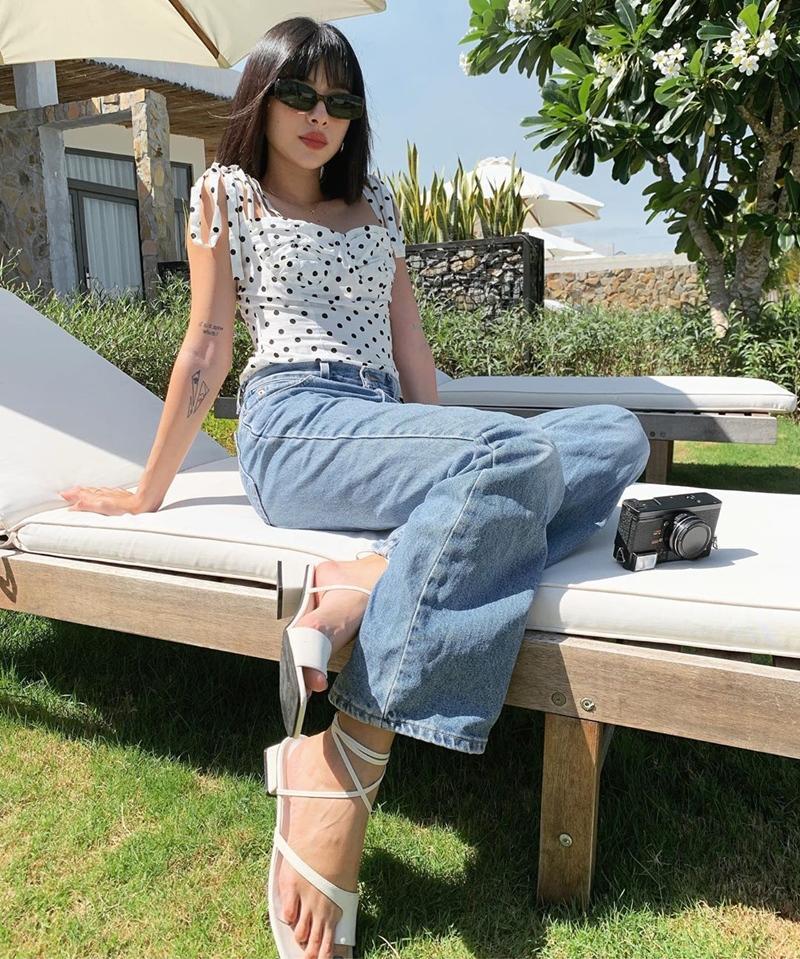 Linh Ka khoe street style như không mặc quần - Nhật Lê lăng-xê quần shorts 5 phân-8