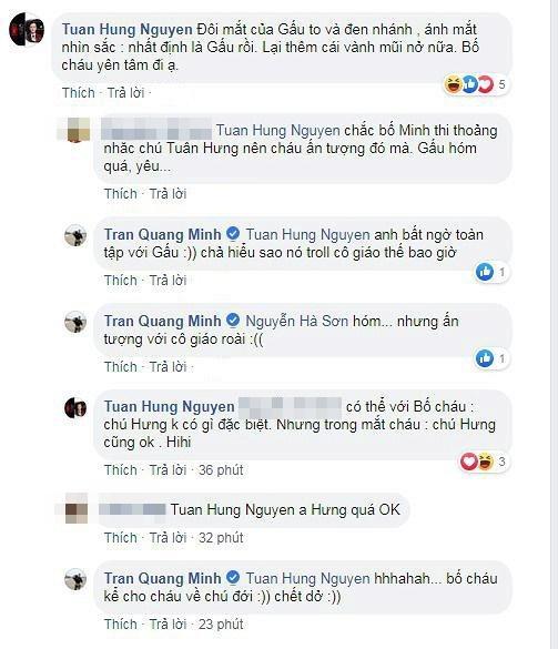 Lấy tên ca sĩ Tuấn Hưng mang ra chém gió với cô giáo, con trai 6 tuổi khiến BTV Quang Minh ngất trên cành quất-3