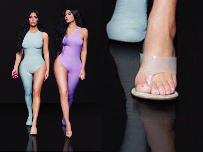 Kim Kardashian bị photoshop lỗi, xuất hiện 6 ngón chân-1