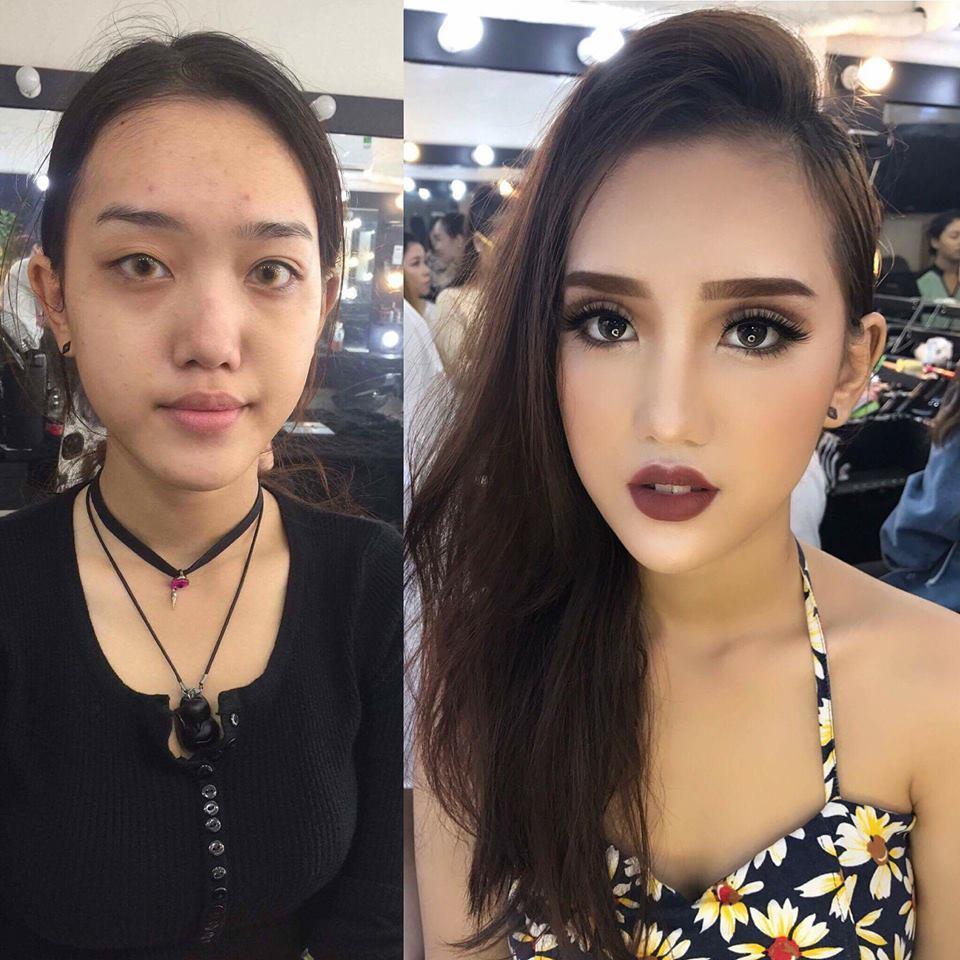 Chị em hiện nguyên hình sau khi tẩy trang 7749 lớp make up-4
