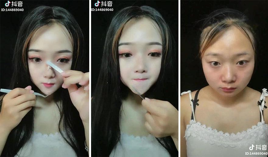 Chị em hiện nguyên hình sau khi tẩy trang 7749 lớp make up-8