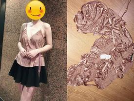 Bị quyến rũ bởi chiếc áo vô cùng sexy đặt qua mạng, cô gái e ngại phải dùng làm rèm cửa vì lý do có 1 - 0 - 2