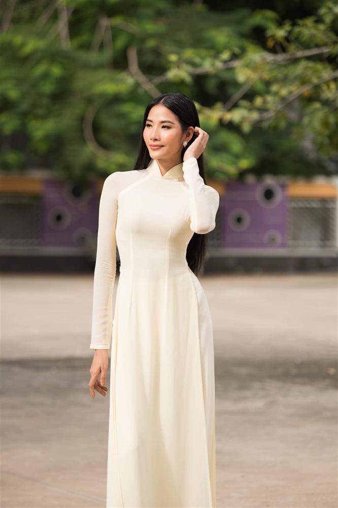Bản tin Hoa hậu Hoàn vũ 22/8: Hoàng Thùy làm lu mờ dàn đối thủ chỉ với tà áo dài trắng tinh khôi-1
