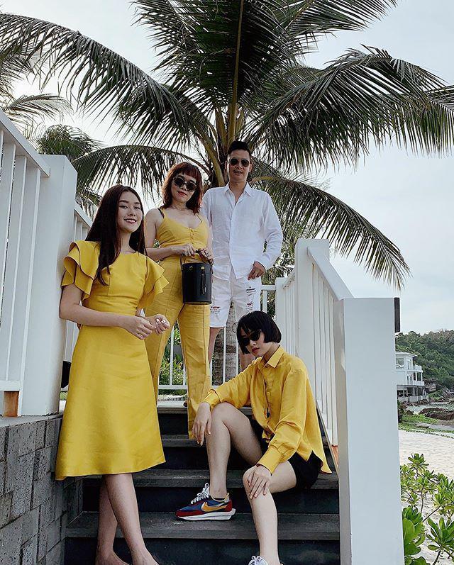 Á hậu Tường San khoe ảnh gia đình, nhưng bất ngờ nhất là gout thời trang sành điệu của cả nhà-4