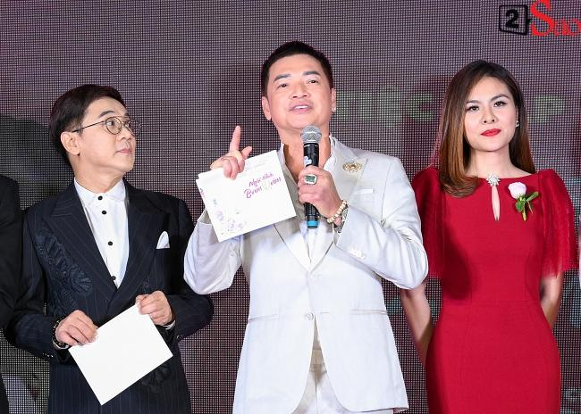 Tưởng Hồng Đào vắng mặt, ngờ đâu vẫn xuất hiện bên cạnh Quang Minh trong họp báo phim-3