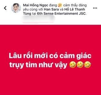 Sau Đông Nhi - Ông Cao Thắng, cặp đôi gà cưng Han Sara và Tùng Maru (Uni5) tiết lộ đang hẹn hò-5