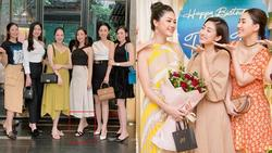 Hoa hậu Đỗ Mỹ Linh bị bóc mẽ 'gian lận' chiều cao khi đứng giữa dàn mỹ nhân