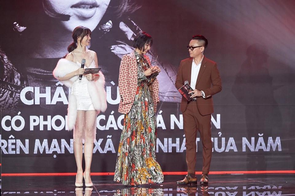 Động thái bất ngờ của Hari Won sau sự cố đọc tên Châu Bùi thành bộ phận nhạy cảm của đàn ông tại lễ trao giải-2