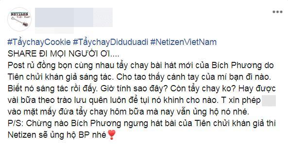 Dân mạng tuyên bố tẩy chay MV mới của Bích Phương chỉ vì có thể đây là bài hát do Tiên Cookie sáng tác-3