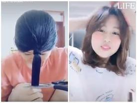 Mẹo tự cắt tóc tại nhà bằng một nhát kéo chuẩn như ở salon