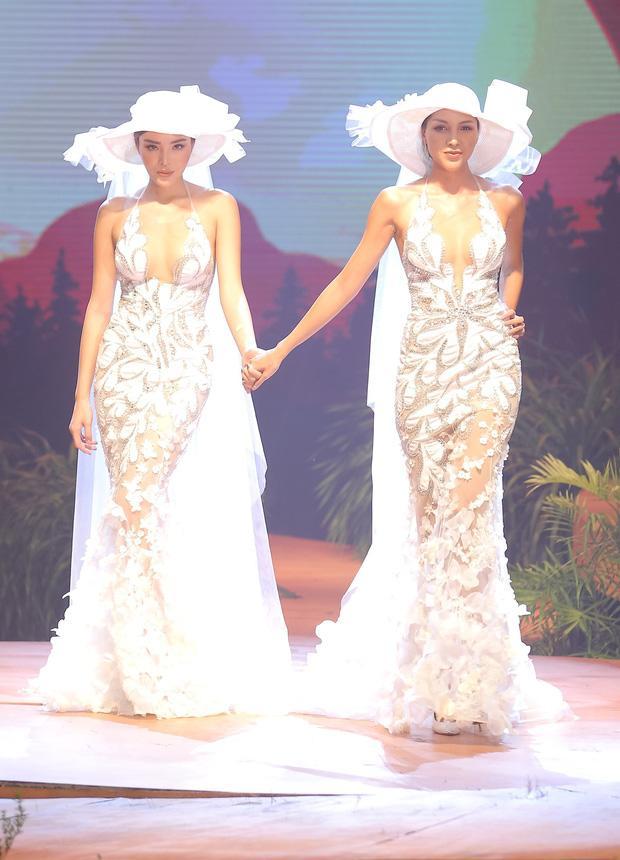 Kỳ Duyên và Minh Triệu nắm tay mặc váy cưới đôi, fan khẳng định: Tập trước để khi cưới đỡ ngại-1