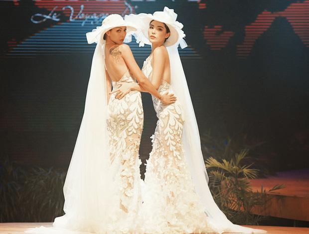 Kỳ Duyên và Minh Triệu nắm tay mặc váy cưới đôi, fan khẳng định: Tập trước để khi cưới đỡ ngại-3