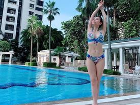 Thu Minh mặc bikini phô diễn đường cong gợi cảm ngỡ ngàng ở tuổi U50