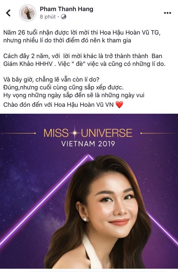 Sau nhiều duyên nợ, cuối cùng Thanh Hằng cũng trở thành giám khảo Hoa hậu Hoàn vũ Việt Nam 2019-2