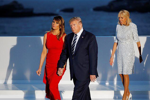 Đệ nhất phu nhân Pháp tốn hơn 400 triệu đồng cho váy áo 3 ngày dự G7-5