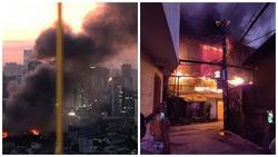 Đang cháy cực lớn kèm nhiều tiếng nổ tại nhà máy bóng đèn phích nước Rạng Đông, hàng chục công nhân lao vào cứu hàng
