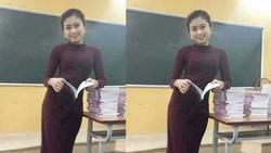 Đứng trên bục giảng check-in, 'cô giáo' xinh đẹp liên tục bị 'xin link' và sự thật phía sau