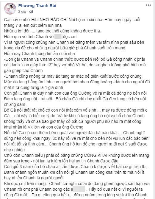 VZN News: Phương Thanh lên tiếng khi bị đồn là người thứ ba, tự may áo tang che mắt công chúng-2