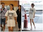 Lâm Tâm Như mặc áo nhăn nhúm, lộ thần sắc phờ phạc ở sân bay-7