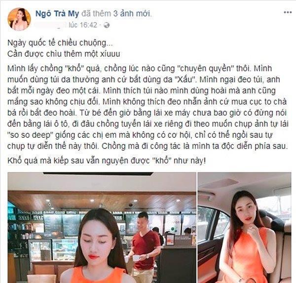 Á hậu khổ nhất Việt Nam: Bị chồng đại gia mua núi hàng hiệu và bắt phải dùng-2