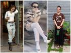 STREET STYLE ngày lễ 2/9: Ngọc Trinh phá cách với jeans rách tả tơi, Angela Phương Trinh lại kín đáo bất ngờ