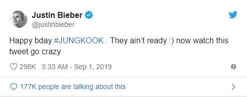 Đến hẹn lại lên, BTS thi nhau dìm hàng Jungkook nhân ngày sinh nhật, Justin Bieber cũng nhập hội bằng dòng tweet bất ngờ-8