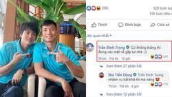 Đình Trọng 'nhắc' Tiến Dũng khi sang Thái Lan: 'Không thắng đừng về'