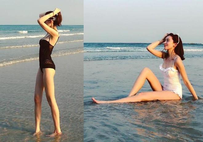 Vóc dáng chuẩn người mẫu ở tuổi 35 của vợ Lâm Chí Dĩnh-4