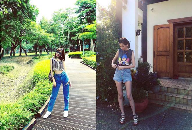 Vóc dáng chuẩn người mẫu ở tuổi 35 của vợ Lâm Chí Dĩnh-5