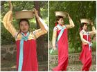 Hoa hậu Kỳ Duyên liên tục bị bung dải áo hanbok chỉ vì vòng 1 'siêu to khổng lồ'