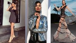 Bản tin Hoa hậu Hoàn vũ 3/9: Không ngờ cũng có ngày Hoàng Thùy lép vế thời trang trước dàn đối thủ