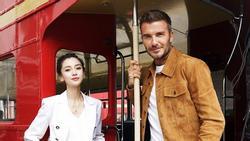 Angelababy sánh đôi bên David Beckham