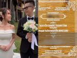 Hé lộ thiệp cưới độc đáo và loạt quy định khắt khe trong đám cưới của con gái đại gia Minh Nhựa