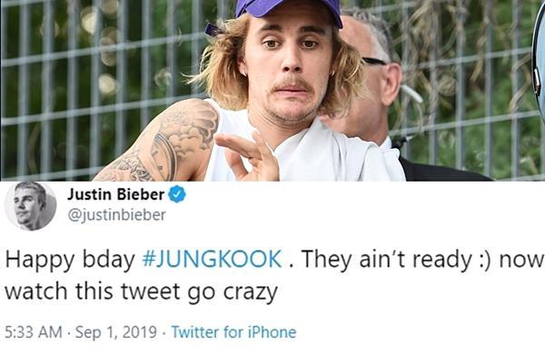 Cộng đồng ARMY chia phe bên trọng - bên khinh khi Justin Bieber chúc mừng sinh nhật Jungkook (BTS)-2
