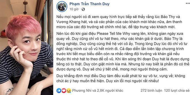 Bảo Thy lên tiếng chuyện Thanh Duy ăn ngập đá tảng vì làm lố, hát chen ngang át cả giọng đồng nghiệp-3