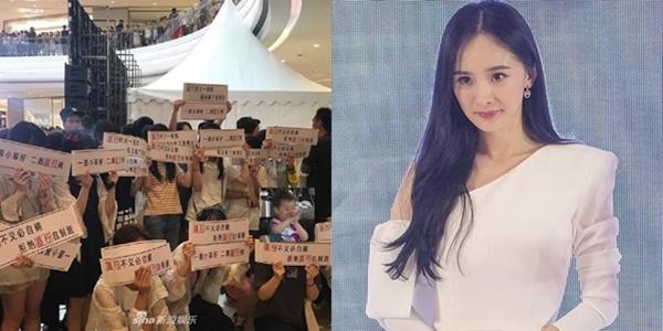 Dương Mịch xấu hổ vì fan chỉ trích công ty quản lý ở ngay sự kiện-1