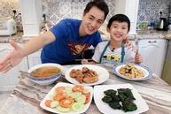 Đăng Khôi trổ tài nấu ăn cho vợ, biết giá mâm cơm, ai cũng ngưỡng mộ