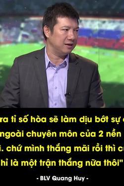 Dân mạng truyền nhau câu nói sặc mùi 'cà khịa' của BLV Quang Huy sau trận đấu Thái Lan