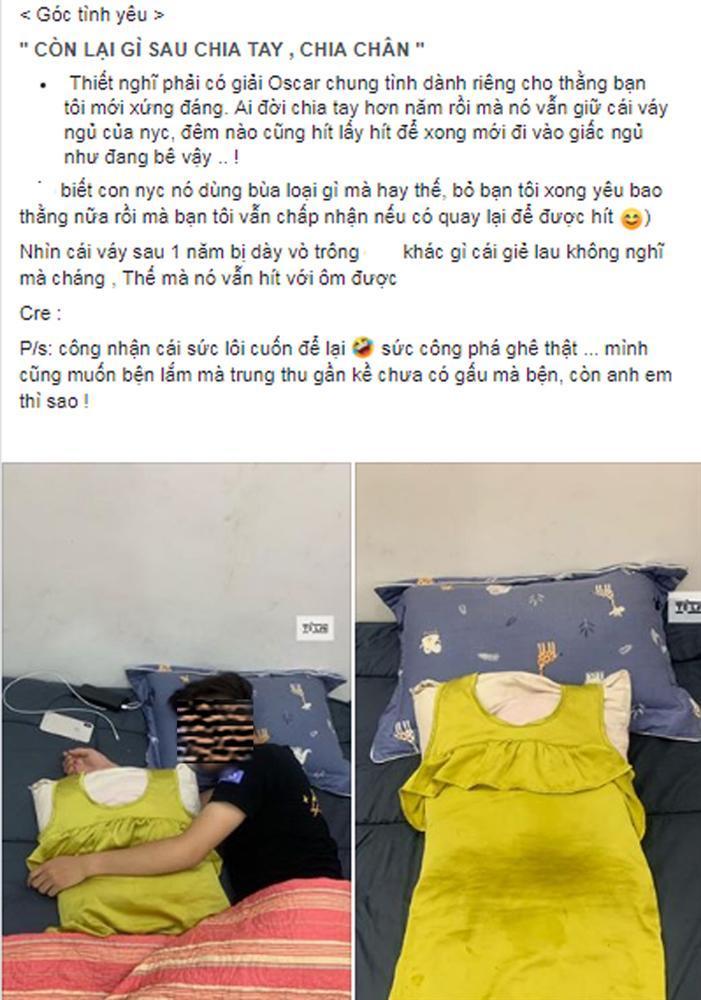 VZN News: Chia tay đã 1 năm, chàng trai vẫn giữ váy của bạn gái để ôm ngủ mỗi đêm, nhìn chiếc váy ai cũng...  hốt-1