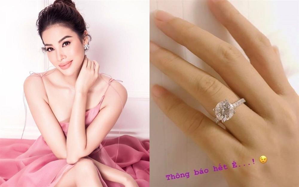 Vừa công khai ảnh khóa môi bạn trai, Phạm Hương lại khoe được tặng nhẫn kim cương tiền tỉ-3
