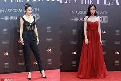 Lý Băng Băng diện trang phục như nội y, Angelababy khoe khéo vòng một gợi cảm trên thảm đỏ