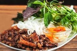 Phiên bản bún chả Việt qua tay đầu bếp nước ngoài