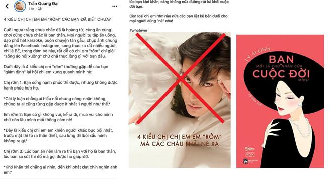VZN News: Quang Đại tiếp tục bị tố đạo ý tưởng của nhà văn Trung Quốc-1