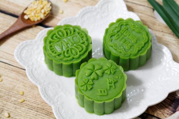 Hướng dẫn làm bánh Trung thu đậu xanh lá dứa-7