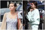 Selena Gomez thả rông, không make up ra đường vẫn được khen