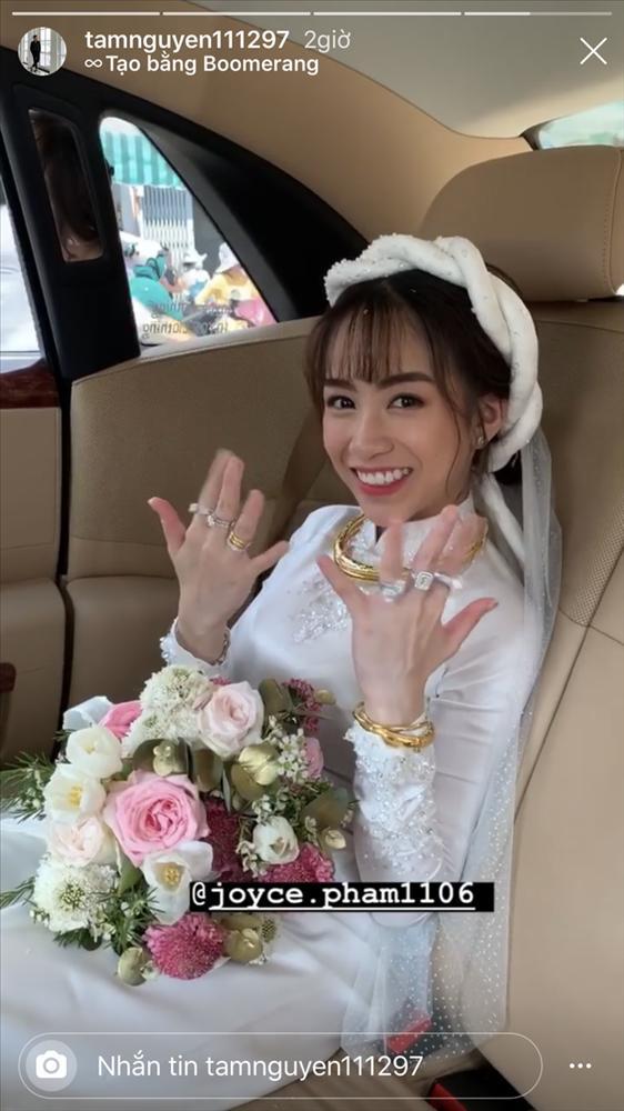 Con gái Minh Nhựa khoe đám cưới khủng: Được 15 siêu xe gần 100 tỷ hộ tống, kim cương phủ đầy tay-4