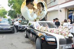 Cận cảnh dàn xe sang trị giá gần 100 tỷ đồng hộ tống con gái Minh Nhựa về nhà chồng